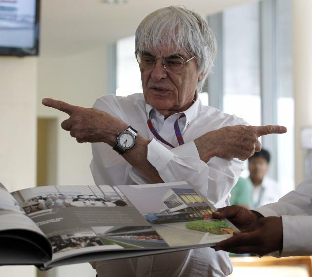 File photo of Formula One supremo Ecclestone at the Indian F1 Grand Prix at the Buddh International Circuit in Greater Noida