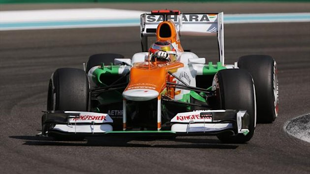 orce India Formula One test driver Jules Bianchi of France drives during the first practice session of the Abu Dhabi F1 Grand Prix at the Yas Marina circuit on Yas Island November 2, 2012. (Reuters)