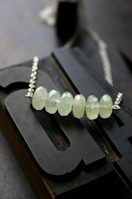 prehnite necklace