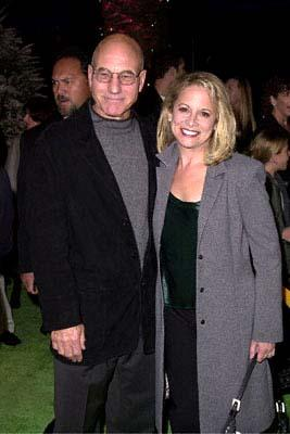 Premiere: Patrick Stewart and his gal Wendy at the Universal Amphitheatre premiere of Universal's Dr. Seuss' How The Grinch Stole Christmas - 11/8/2000