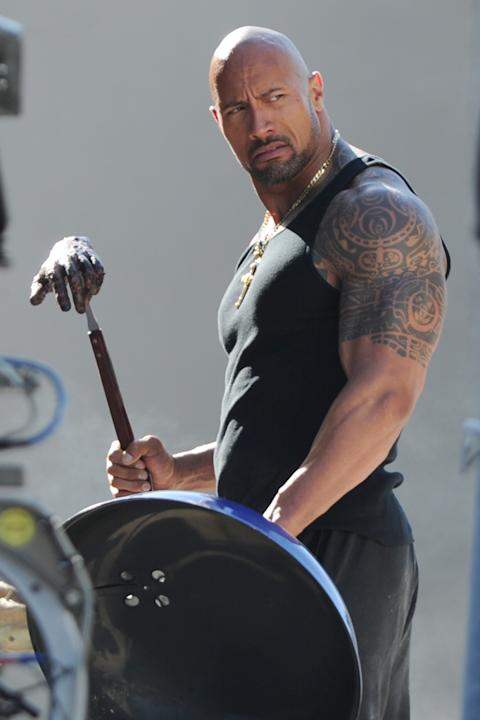 Spotted on Set, 2012, Dwayne Johnson