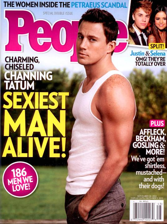 Channing Tatum appears on People Magazine's 'Sexiest Man Alive' coverUSA - 14.11.12Supplied by WENN.comWENN does not claim any ownership including but not limited to Copyright or License i