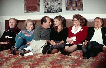 Red Buttons , Betty White , Bruce Willis , Michelle Pfeiffer , Jayne Meadows and Tom Poston in Universal's The Story Of Us