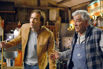 Nicolas Cage and Peter Falk in Paramount Pictures' Next