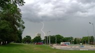 A lightning bolt strikes the Halifax Common. The green space turns 250 this year.