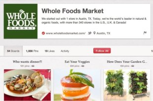 5 Brands Using Pinterest Right and How to Learn from Them image wholefoods pinterest1