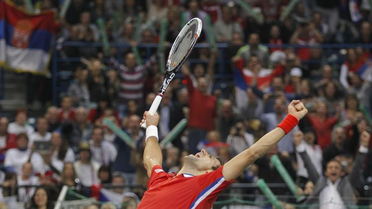 Serbia v Czech Republic - Davis Cup World Group Final: Day Three
