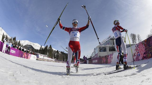 Bjoergen who won triple gold at the winter olympics last month took
