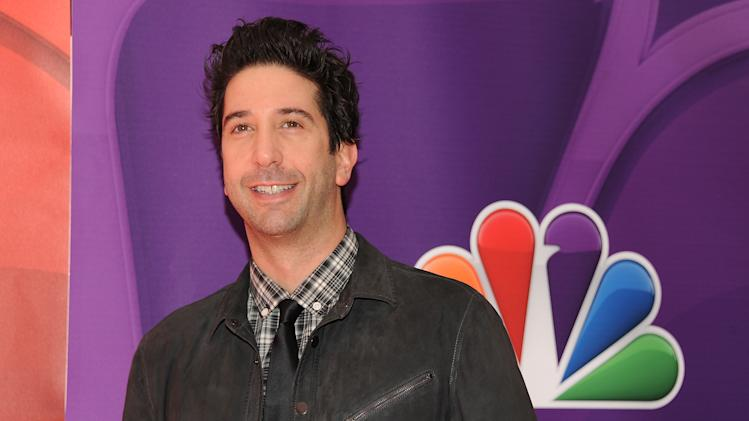 "FILE - In this May 13, 2013 file photo, actor David Schwimmer attends the NBC Network 2013 Upfront at Radio City Music Hall in New York. Before he became a famous TV star on ""Friends,"" actor and director Schwimmer helped start a theater company in Chicago with a group of his Northwestern University classmates. Schwimmer has returned to direct the company's summer offering, a crime comedy called ""Big Lake, Big City"" written by Keith Huff of TV's ""Mad Men"" and Broadway's ""A Steady Rain."" (Photo by Evan Agostini/Invision/AP, File)"