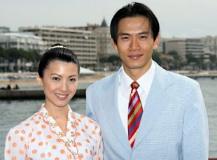 Qi Yuwu and Jeanette Aw at Cannes 2009 (AFP)