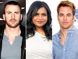 "Mindy Kaling: I Love Blond Men Like ""Chris Evans and Chris Pine"""