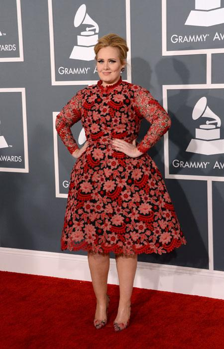 Singer Adele arrives at the 55th Annual GRAMMY Awards at Staples Center on February 10, 2013 in Los Angeles, California. (Photo by Jason Merritt/Getty Images)