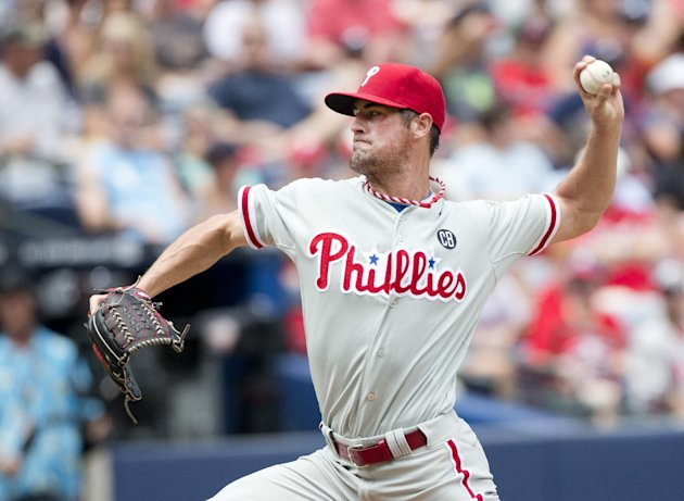 Cole Hamels is the Phillies' top trade bait. (AP)