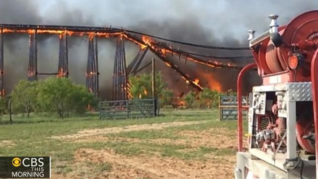 Watch: Fiery collapse of railroad trestle