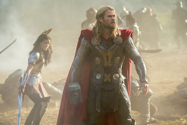 "Sif following Thor everywhere in ""The Dark World."" (Photo Credit: Disney / Marvel)"