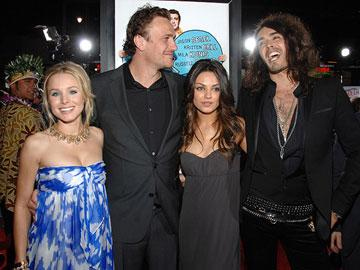 Kristen Bell , Jason Segel , Mila Kunis and Russell Brand at the Los Angeles premiere of Universal Pictures' Forgetting Sarah Marshall