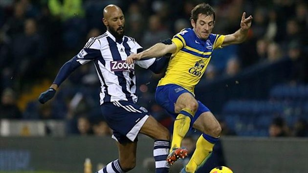 Nicolas Anelka, left, started West Brom's draw with Everton