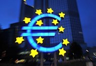 A huge symbol of the Euro outside the European Central Bank (ECB) headquarters in Frankfurt. The leaders of the eurozone's four biggest economies on Friday vowed measures to boost growth in the face of a relentless debt crisis, including an injection of up to 130 billion euros ($163 billion)