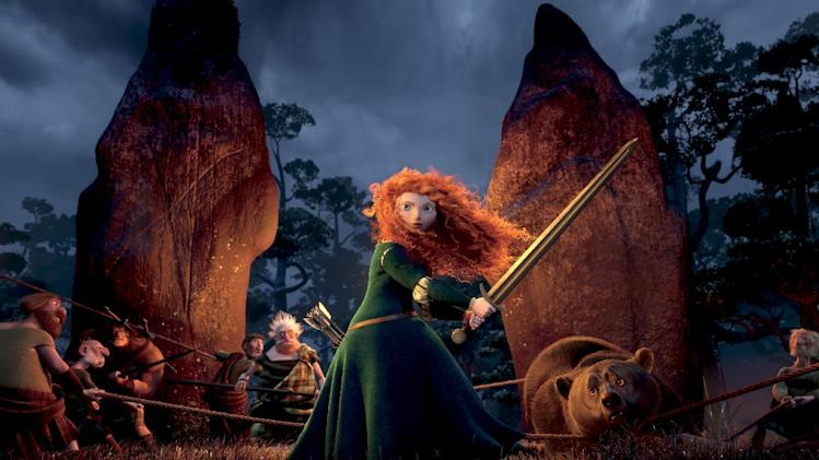 "This film image released by Disney/Pixar shows the character Merida, voiced by Kelly Macdonald, in a scene from ""Brave."" (AP Photo/Disney/Pixar)"
