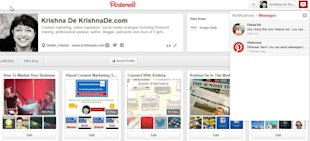 How To Use Pinterest Messages On Your Desktop Or Mobile Device image Pinterest marketing tips to find and delete the messages you have sent go to Notifications and Messages 600x272