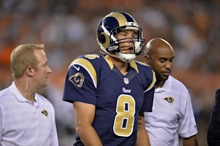 Sam Bradford hasn't played a full season for the Rams since 2012. (AP)