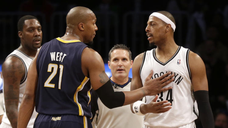 Nets' Pierce fined $15,000 for foul on George Hill