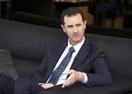 Syria's President Bashar al-Assad speaks during an interview with German magazine Der Spiegel in Damascus, in this handout photograph distributed by Syria's national news agency SANA on October 7, 2013.REUTERS/SANA/Handout via Reuters