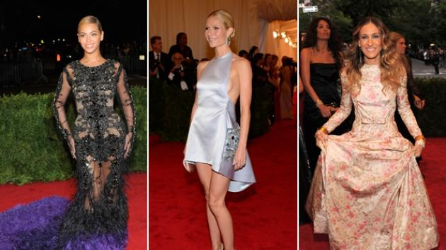 Beyonce, Gwyneth Paltrow & Sarah Jessica Parker at the 2012 Met Gala in NYC -- Getty Images