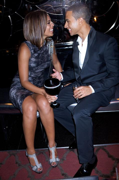 Rochelle and Marvin Humes photos: The first photo of the pair way back in 2010. How.Cute. Copyright [Rex]