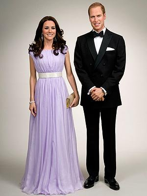 Kate Middleton Prince William wax statues