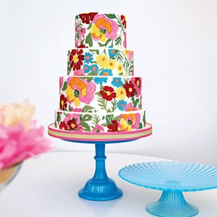 This floral-inspired cake makes a bold statement.