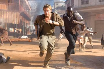 Leonardo DiCaprio and Djimon Hounsou in Warner Bros. Blood Diamond