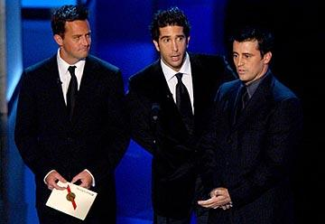 Matthew Perry, David Schwimmer and Matt LeBlanc 55th Annual Emmy Awards - 9/21/2003