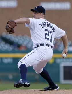 Jordan Zimmermann is 4-0 with a 0.35 ERA this season. (Getty Images)