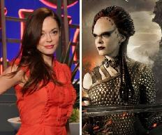 "Rose McGowan on Access Hollywood Live, and as Marique in ""Conan the Barbarian"" -- Access HollywoodLionsgate"