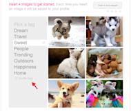 How to Get Started With We Heart It [Complete Guide] image Get Started on We Heart It by Hearting 4 Images 300x254