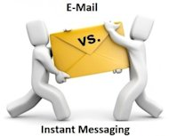 Instant Messaging: A Better Tool for Collaboration Than Email image EMail Vs Instant Messaging 300x241