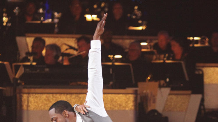 "Kym Johnson and Jaleel White perform on ""Dancing With the Stars."""