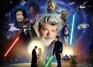 """Star Wars"" George Lucas Collage."