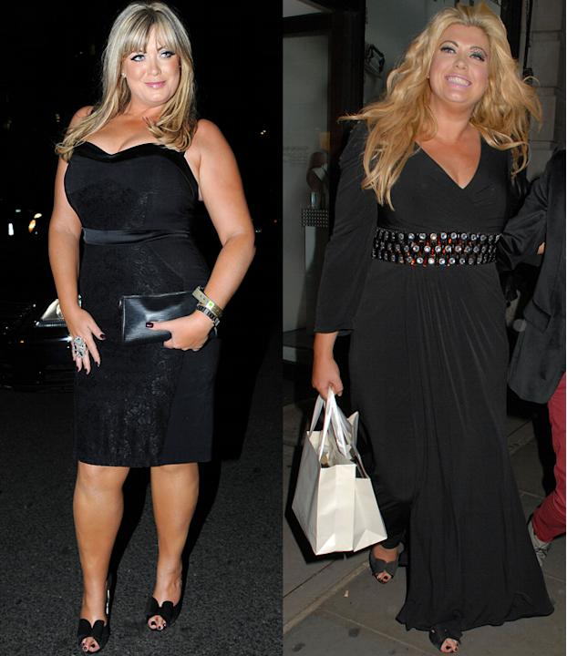 Gemma Collins weight loss: The TOWIE star may have tried (and failed) to ditch the excess pounds but earlier this year she was showcasing a smaller silhouette. Bootcamp and a diet were the secret alth