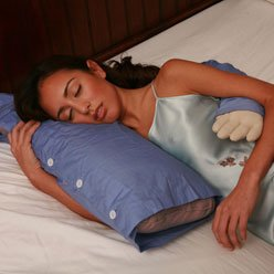 The Boyfriend Body Pillow is shaped like a man's torso to mimic being spooned. (DeluxeComfort.com)