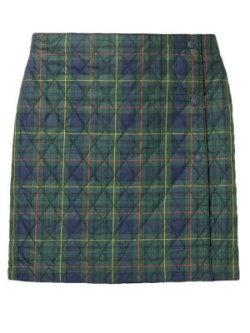 Uniqlo warm lined check mini skirt
