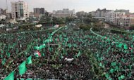 Gaza Marks Hamas Anniversary With Huge Rally