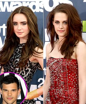 Taylor Lautner Compares Girlfriend Lily Collins to Kristen Stewart