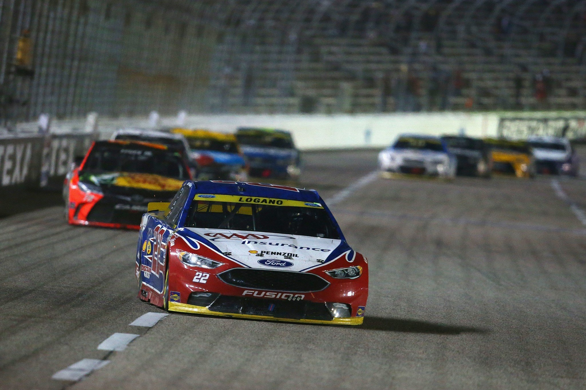 Joey Logano finished second at Texas. (Getty)
