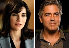 Julianna Margulies, George Clooney | Photo Credits: Jeffrey Neira/CBS; Fox Searchlight