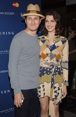 Rachel Weisz and husband Darren Aronofsky at the New York premiere of Focus Features' Evening