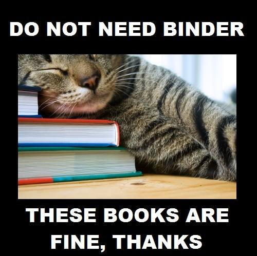 Do not need binder
