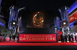 "People wait at the premiere of ""The Hunger Games: Catching Fire"" in Los Angeles"