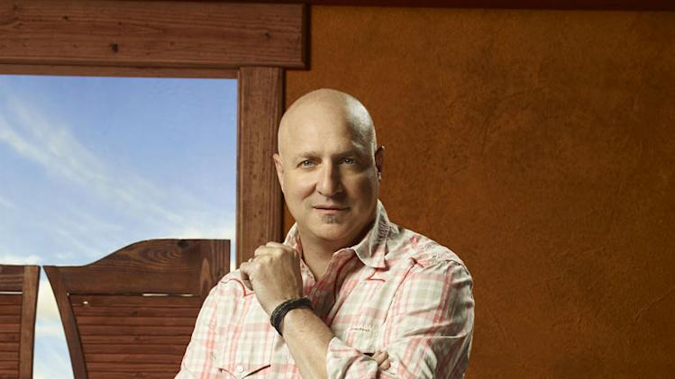 "Tom Colicchio judges the contestants Season 9 of ""Top Chef."""